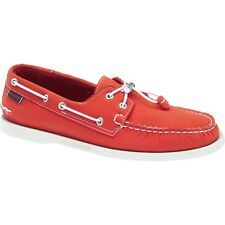 Mens Sebago Red Neoprene Docksides Lace Up Boat Shoes B720141 Size 7-13 (D, M)