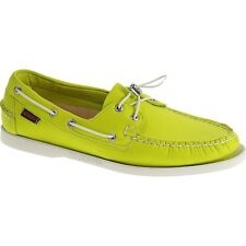 Mens Sebago Green Neoprene Docksides Lace Up Boat Shoes B720143 Size 7-13 (D, M)