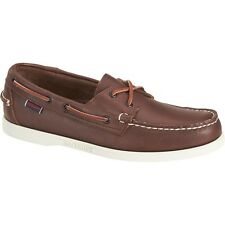 Mens Sebago Brown Leather Docksides® Slip On Boat Shoes B720160 Size 7-14 (E, W)