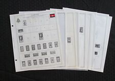 Minkus Global Album Pages,Cambodia, Used, 11 Pages, Thru 1974
