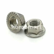 20PCS-100PCS HEX FLANGE NUT 304 Stainless Steel Serrated Non-slip nuts M3-M12 M3