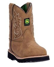 John Deere JD1031 Baby's Tan Round Toe Pull-On Wellington Boots - New With Box