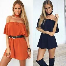 New Sexy Women Off-Shoulder Party Evening Cocktail Summer Beach Short Mini Dress