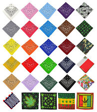 12 pcs 100% Cotton Paisley Bandanas Double Sided Head Wrap Scarf Handkerchief