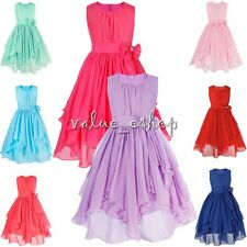Flower Girls Chiffon Dress Princess Formal Party Wedding Bridesmaid Kid Recital