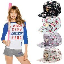 Floral Flower Snapback Hip-Hop Hat Flat Adjustable Baseball Cap Fashion FJ