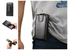 Real Leather ROTATE Belt Clip Hip Holster Waist Pack Pouch Case Cover For Phone