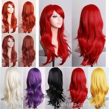 Full Hair Wig Long Straight Curly Wavy Women Multi Color Cosplay Party Dress Wig
