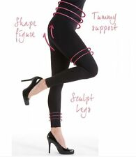 Silky Womens/Ladies Look Great Shaping Leggings In Two sizes S/M or M/L In Black