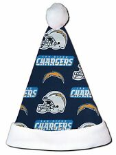 NEW NFL San Diego Chargers Christmas Football Santa Hat Personalized 18""