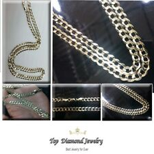 """14k Solid Yellow Gold Cuban Curb Link Necklace Chain 24"""" 4.7mm"""