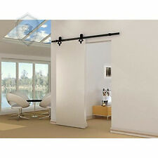 diamond  Hardware Wood Sliding  Track Barn Door Hardware  Black Kit 12FT