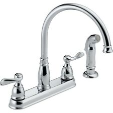 Delta 21996LF Foundations Windmere Kitchen Faucet Two Handle Sidespray Chrome