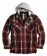SURPLUS CLASSIC LUMBERJACK HOODED JACKET MENS WOODCUTTER CHECK RETRO STYLE TOP