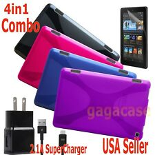 4in1 Amazon 2015 Kindle Fire HD 6 Case Cover + Power Adapter + Screen Protector