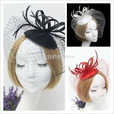 Flower Feather Hair Clip Fascinator Hat Ladies Day Wedding Races Hair Accessory