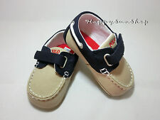 Ralph Lauren Baby Shoes Sander EZ Boat Canvas US3(6-9MOS.12cm) US4(9-12MOS.13cm)