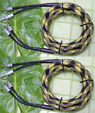 Pair YL-B Audiophile Hi-end Nakamichi Banana AMP Speaker Cable 12AWG 10AWG Gauge