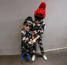 Girl Outfits Floral Long Sleeve Pullover Pants  Kids' Clothin Spring Fall Sets