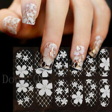 New Design 3D White Lace Nail Art Tips Sticker Decal Acrylic DIY Decoration