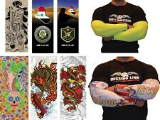 MISSING LINK ARMPRO Compression Arm Sleeves Stretch/Cooling/Tatto Designs/Riding