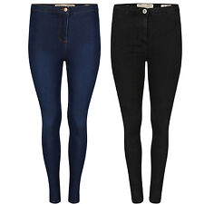 NEW Womens Super Skinny Stretchy Denim Ladies Button Wasist Jeggings Size 6-14