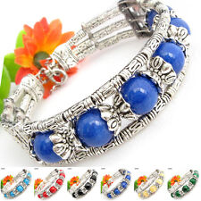 Special Offer, Tibetan Silver Gemstone Turquoise Coral Handmade Bangle