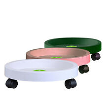 Hot Garden Plant Pot Round Wheels Mover Trolley Caddy Garden Plate Resin Stand