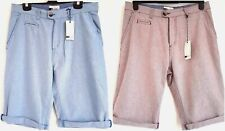 Mens Smart Casual Chino Shorts Blue Red 100% Cotton Pockets Zip Fly Sizes S & M