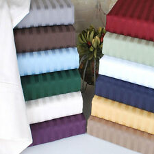 Queen Size 4 pcs Water Bed Sheet Set 1000 TC Egyptian Cotton All Stripe Colors