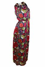 laundry by Shelli Segal $225 NWT Red Multi Floral Halter Maxi Dress Women