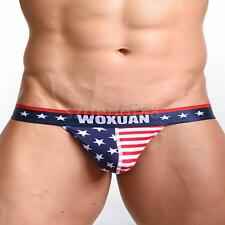 Stars and Stripes Men's Sexy Underwear T-back G-string Thongs Jockstrap Briefs