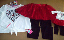 NEW 4PC HOLIDAY LEGGINGS OUTFIT(6 6X 7 8) + OUTFIT FOR AMERICAN GIRL DOLL DOLL
