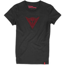 Dainese Shine Logo Lady Motorcycle Casual Wear T-Shirt - Black / Red