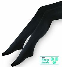 3 warm Ladies Tights Opaque Thermal Ski Tights black tights suitable for below