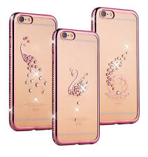 Crystal Diamond Bling Clear Soft TPU Phone Case Cover For Apple iPhone 6 6s Plus