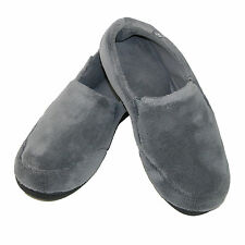 New Isotoner Mens Microterry Memory Foam Indoor/Outdoor Slip-On Slippers