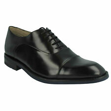 SWINLEY CAP MENS CLARKS FORMAL LACE UP TOE CAP LEATHER DRESS SMART WORK SHOES