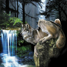 Modern Home Decor HD Prints art oil painting canvas wall art Fantasy wolf NTD081