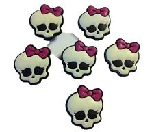 Monster Girl Skulls Shoe Charms or Zipper Pulls (Set of 6)