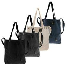 Women's Washable Canvas Tote Shoulder Handbag Tote Crossbody Message Satchel Bag