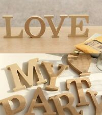 Wooden Wood Letters Alphabet Birthday Wedding Party Home Decor 10cmX1.5cm(thick)
