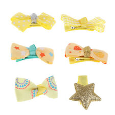 6Pcs Baby Girls Toddler Kids Ribbon Bow Hair Pin Clips Hair Grips Accessories
