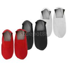 Girl's Ballet Dance Shoes Gymnastics Canvas Slipper Shoes Full Sole Shoes