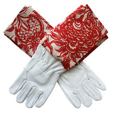 NEW Washable leather gardening gloves in Red Clay by Homegrown & Handmade