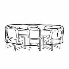 Weather Wrap Oval Table & Chairs Cover