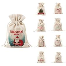 Drawstring Small Linen Bags Burlap Drawstring Bag/ Gift Bag Pouch for Christmas
