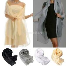 Women Ladies Soft Long Neck Large Solid Scarf Wrap Shawl Pashmina Stole Soft