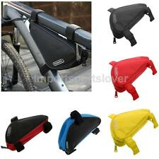Triangle Design Bike Bicycle Front Tube Bag Cycling Tools Storage Pouch 5 Colors