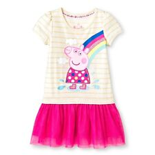 NEW Toddler Girls' Peppa Pig Short Sleeve Dress - Multicolored  Size 2T-4T-5T